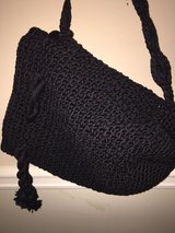 Black crocheted purse in Perry, Georgia