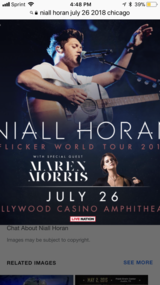 3 Niall Horan tickets in Chicago, Illinois