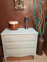Shabby 3 Drawer Table Chest Dresser entry piece in Aurora, Illinois
