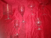 collection of various vintage bar glasses in Spring, Texas