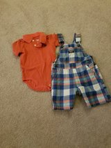 18 month boys summer overall outfit in Bolingbrook, Illinois