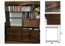 Office / Home Wall Unit Solid Wood with drawers, swing door and Built-in Desk in Fort Rucker, Alabama