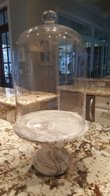 Tall Dome Cloche with Marble-Like Pedestal Base in Beaufort, South Carolina
