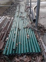 "374"" (17 stands of 22' length)  x 1 3/4"" dia. used Coated Top Rail Pipe for Chainlink Fencing in Kingwood, Texas"