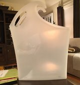Hanging Rubbermaid Tote in Chicago, Illinois