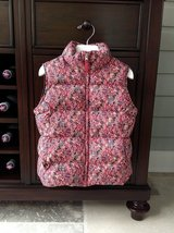 Girls Lands End Down Vest - Flower Pattern Size 7-8 in St. Charles, Illinois