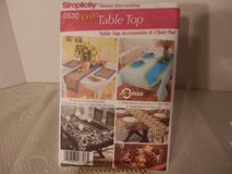 Brand New Simplicity #5530 Easy Table Top, Accessories, Chair Pads in Aurora, Illinois
