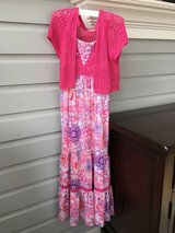 Girls Long Sundress and Sweater from Justice - Size 10 in Bolingbrook, Illinois