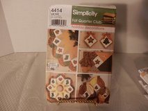 Brand New Simplicity Pattern #4414.  Fat Quarters Holiday Dcorations in Yorkville, Illinois