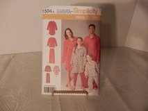 Brand New Simplicity Pattern #1504A Pajama Shirt-Pants  size XS-XL in Yorkville, Illinois