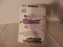 Brand New Butterick Pattern #6837 Unisex Robe-Top-Shirt-Pants Size XS-M in Yorkville, Illinois