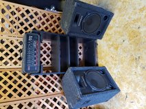 2 huge speakers and mixer system in Beaufort, South Carolina
