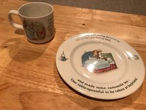 Wedgewood Peter Rabbit Cup and Plate Set in Lockport, Illinois