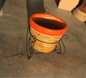 New clay flower pot in Travis AFB, California