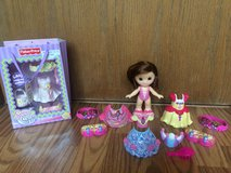 15 Piece Fisher Price Snap N Style princess doll etc. in St. Charles, Illinois