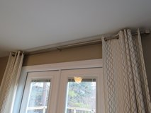 Double Drapery Rod in Brushed Nickel in Quantico, Virginia