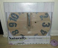 New! Naturally Danny Seo Wood Frame Clock in Chicago, Illinois