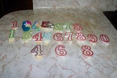 Assortment of numeric birthday candles in Conroe, Texas