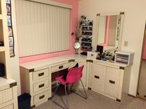 8 Piece White Bedroom Dresser Set with Shelves in 29 Palms, California