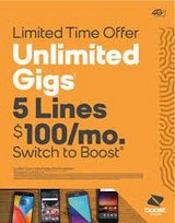 Lines 5 FREE Phones $500 ( Boost Mobile ) All Active with Service! in Fort Lewis, Washington