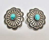 Sterling Silver & Turquoise Vintage Native South West Earrings in Ramstein, Germany