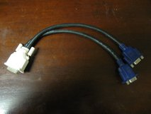 DVI to (2) VGA Output Adapter in Kingwood, Texas
