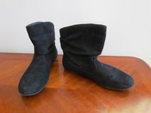 Black Suede Booties in Palatine, Illinois