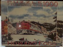1000 Pieces artist is Howard FOGG  SANTA Fa PA-1 Diesel TRAIN MIB in Alamogordo, New Mexico