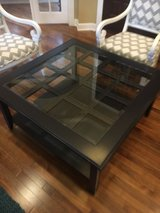 Coffee table Dark Navy w glass top . in Morris, Illinois