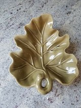 Green fall leaf dish in Glendale Heights, Illinois