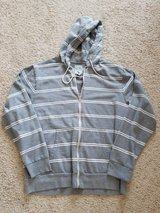 Grey Striped Zipper Hoodie in Camp Lejeune, North Carolina