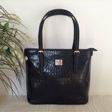 Authentic ANNE KLEIN tote in patent black - croc embossed in Yucca Valley, California