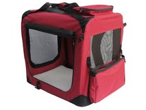EliteField 3-door Maroon Soft Dog Crate - Small in Chicago, Illinois