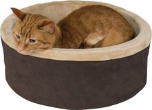 K&H Pet Products Thermo-Kitty Cat Bed, Mocha in Oswego, Illinois