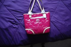 NWT AUTHENTIC COACH F22322 HOT PINK PATENT PEYTON CARRYALL PURSE TOTE in Leesville, Louisiana