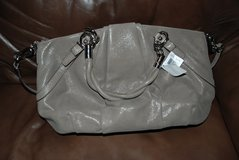 NWT AUTHENTIC COACH F22563 FLINT GREY TAUPE CARRYALL PURSE  SATCHEL in Leesville, Louisiana