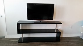 """LIKE NEW CONTEMPORARY 5' 4"""" BLACK SHELVING UNIT IDEAL FOR FLAT SCREEN TV, BOOKS, COLLECTIBLES... in MacDill AFB, FL"""