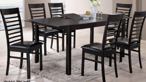 BRAND NEW! 7PC WOOD DINING SET WITH BUTTERFLY LEAF EXTENTION! in Camp Pendleton, California