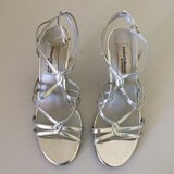 Silver Strappy Dress Shoes in Palatine, Illinois