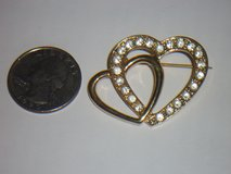 double heart pin in Aurora, Illinois