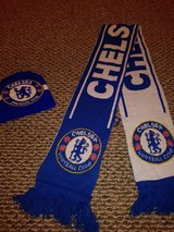 Chelsea FC scarf & beanie in The Woodlands, Texas