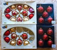 *REDUCED* Gold and Red Christmas Ornaments. Set of 30. in Okinawa, Japan