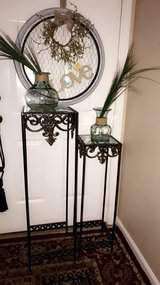 like new beautiful metal glass decorative table stand. #2 in Lockport, Illinois