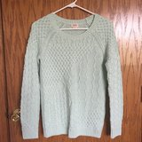 Mint Green Cable Knit Sweater in Bartlett, Illinois