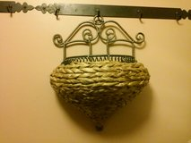 Wicker Iron Wall Hanging Planter in Glendale Heights, Illinois