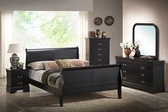 INVENTORY SALE! BLACK LOUIS QUEEN PHILIPE COLLECTION SOLID WOOD BEDFRAME! in Camp Pendleton, California