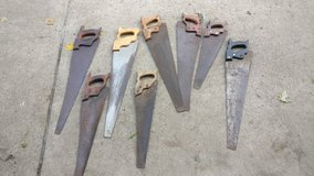 8 saws classic wooden handles in Orland Park, Illinois