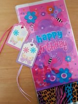 9 Birthday Goody Bags With Butterfly Tags Handmade in Ramstein, Germany