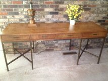 Wood and Metal Side Table or Desk in Naperville, Illinois