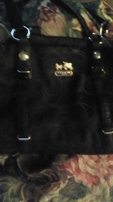 Real black Coach purse in Fort Campbell, Kentucky